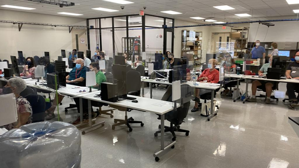 Maricopa County Elections Department tabulation machines