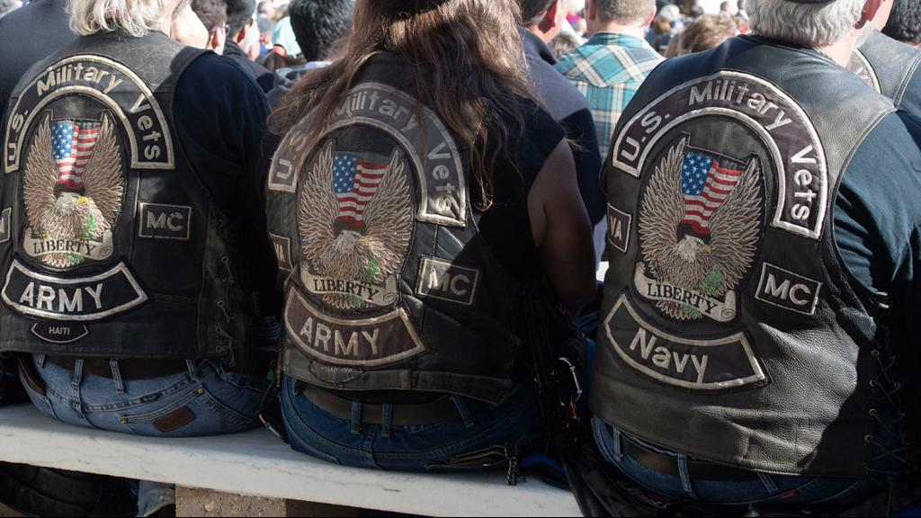 Veterans at a Veterans Day event