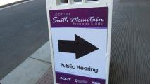 South Mountain Freeway proposal gets mixed reviews at a public hearing