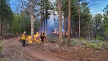 Firefighters Battling G22 Fire Brace For Gusty Winds