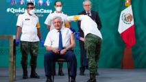 AMLO Receives Vaccine, Urges Other Older Mexicans To Follow Suit