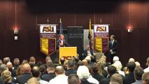 Secretary Of Defense Visits ASU, Pushes US To Focus On Asia-Pacific