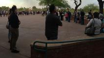 Long Lines At Polling Places Across Maricopa County For Presidential Preference Voting