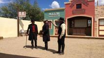 Actors perform at the OK Corral