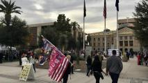 Trump Supporters Protest Election Results At State Capitol
