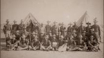 1898 photo of members of the 1st U.S. Volunteer Cavalry Regiment