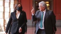 Vice President Kamala Harris and Mexico's President Andrés Manuel López Obrador