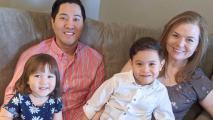 John Hansen and his family