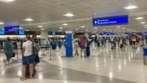 people standing around terminal