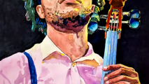 watercolor painting chill cello amsellem