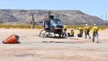 Lime Fire helicopter