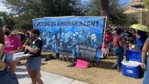 Fuerte Arts Movement's October Women's March mural, critical of Arizona Senator Kyrsten Sinema