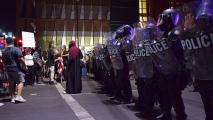 Phoenix Police riot gear protest