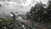 Rain on State Route 89A
