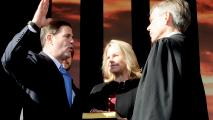 Elected Officials Take  Office In Official Inauguration Ceremony