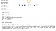 Pinal County Suing Arizona Over Federal Coronavirus Relief Aid