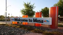 Welcome to Mesa Arizona sign
