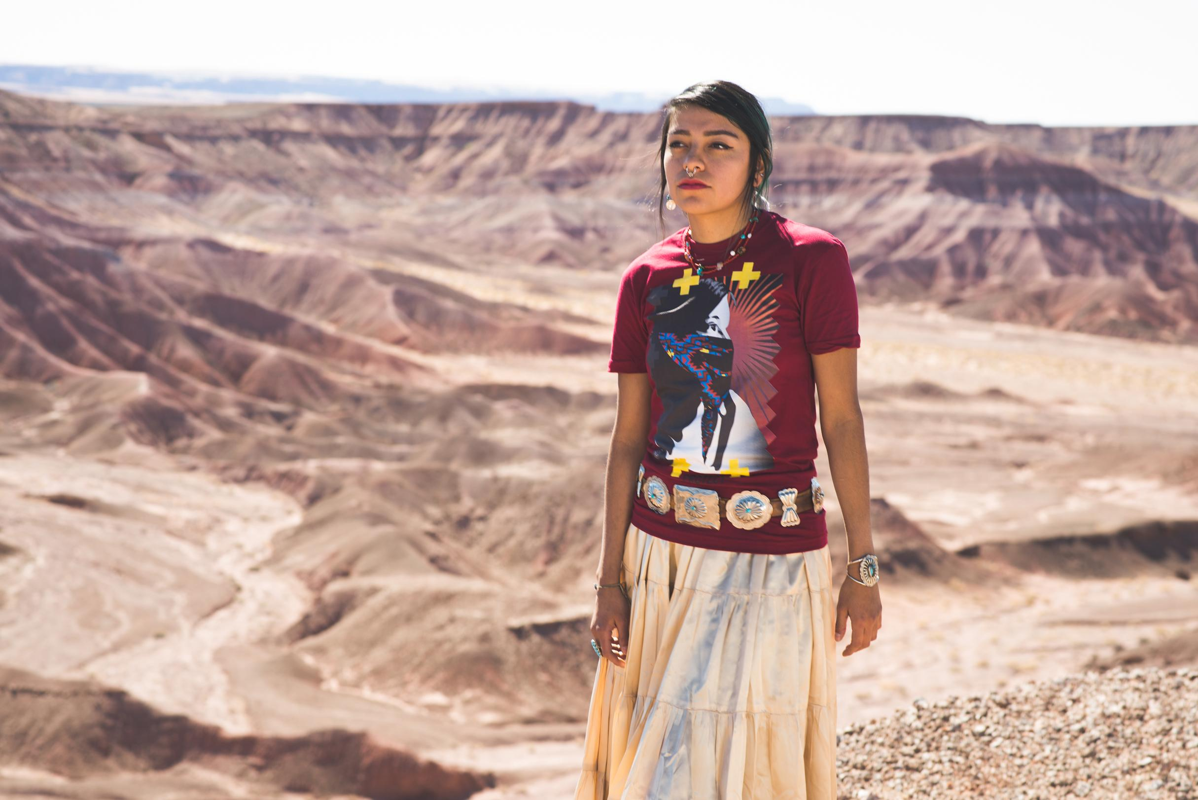 Navajo Fashion Designer Uses T-Shirts To Illustrate Native ...