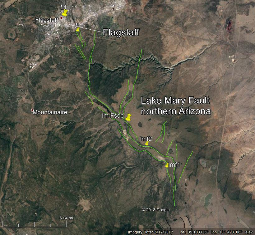 Arizona Geological Survey. Map produced using Google Earth.