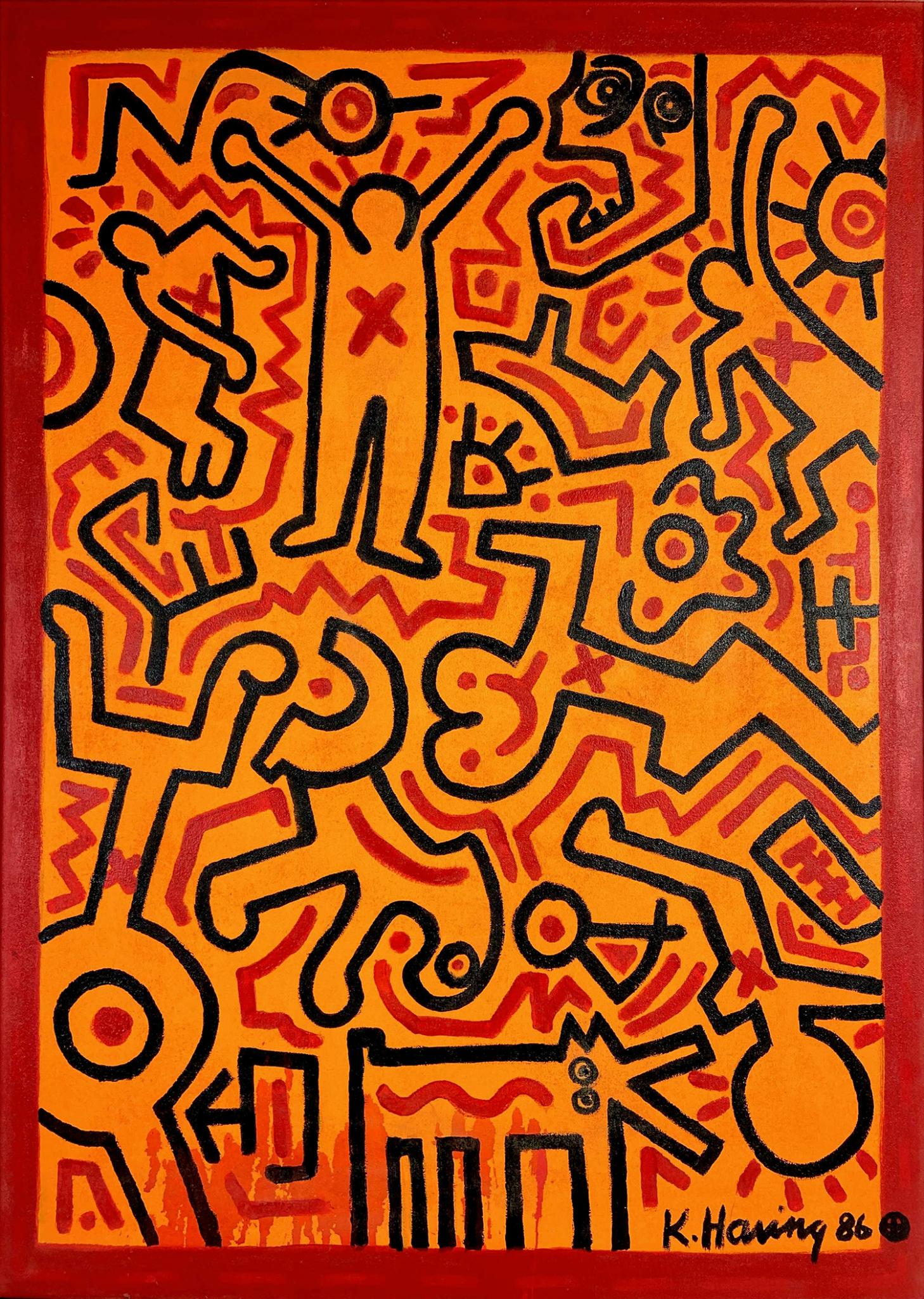 Keith Haring, courtesy of EJ's Auction & Appraisal
