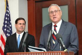 Arizona Gov. Doug Ducey (left) and Sen. Jon Kyl