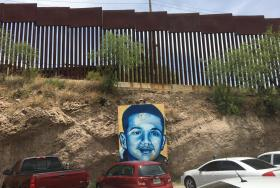 A memorial on the Nogales, Mexico side of the border