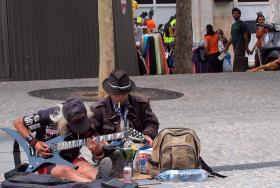 busking street performer musician
