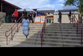 Voters line up in north Phoenix