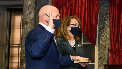 Sen. Mark Kelly Is Sworn Into Senate, Narrowing GOP Edge
