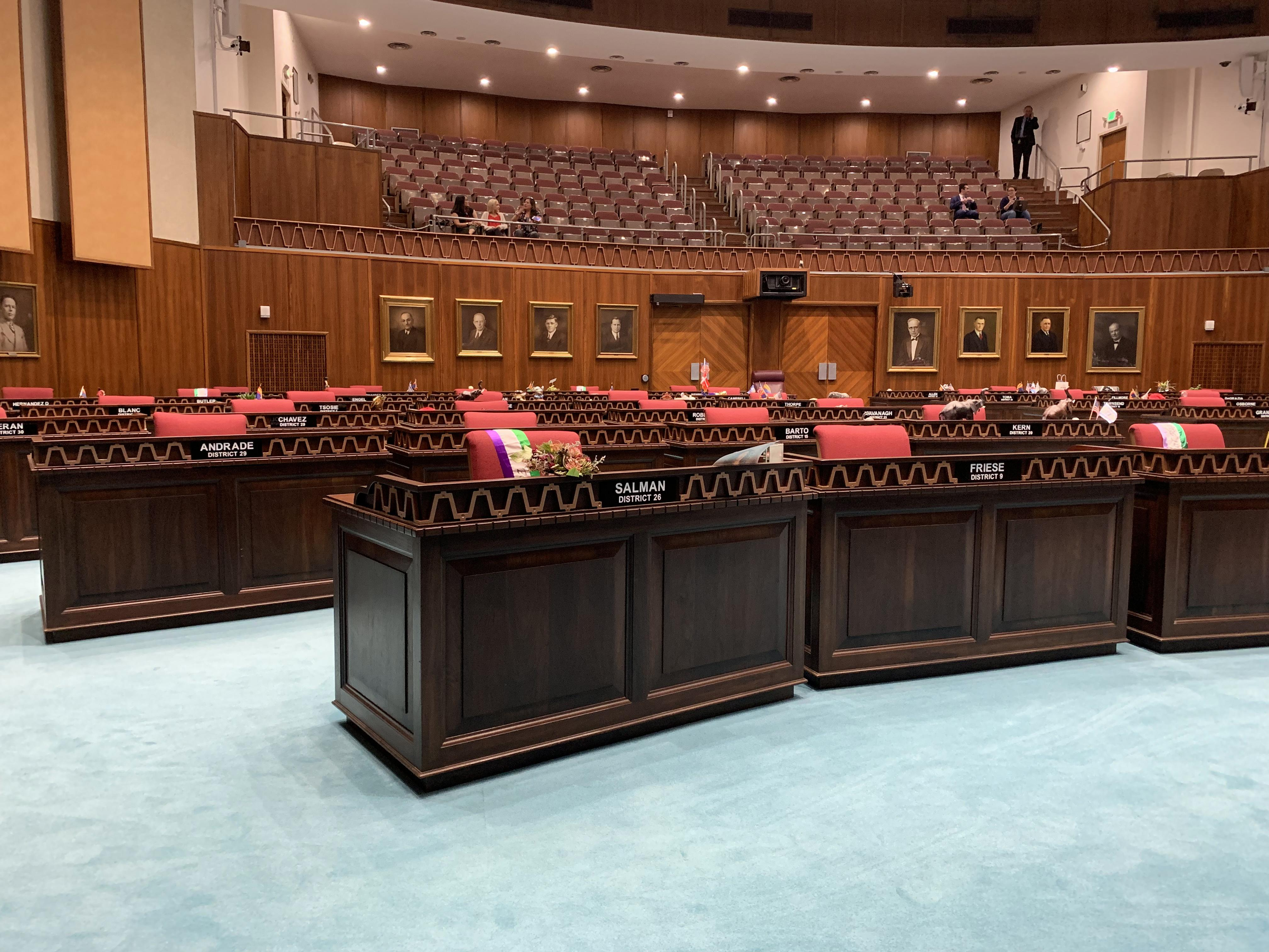 The Arizona House of Representatives floor