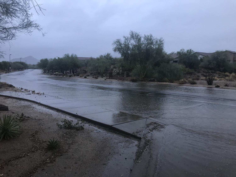 Rain flash flooding Mesa