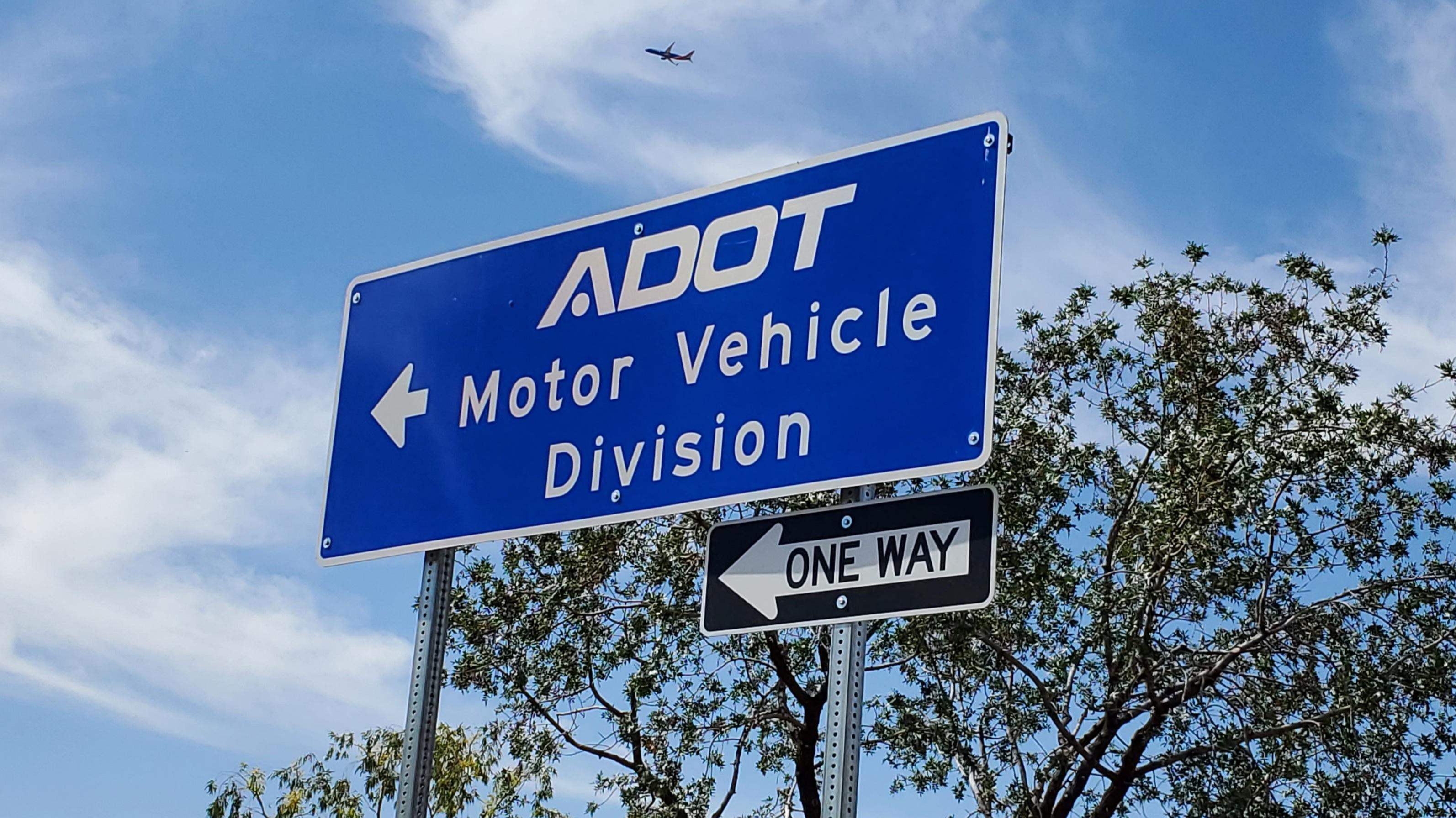 Arizona MVD sign