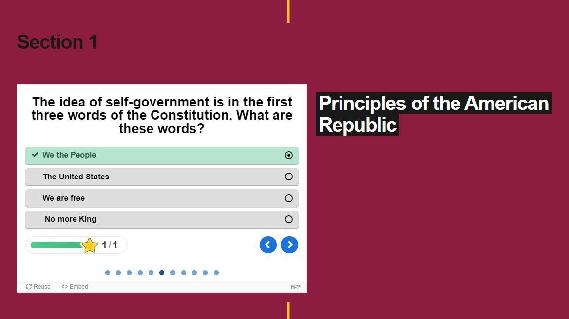ASU civics quiz.