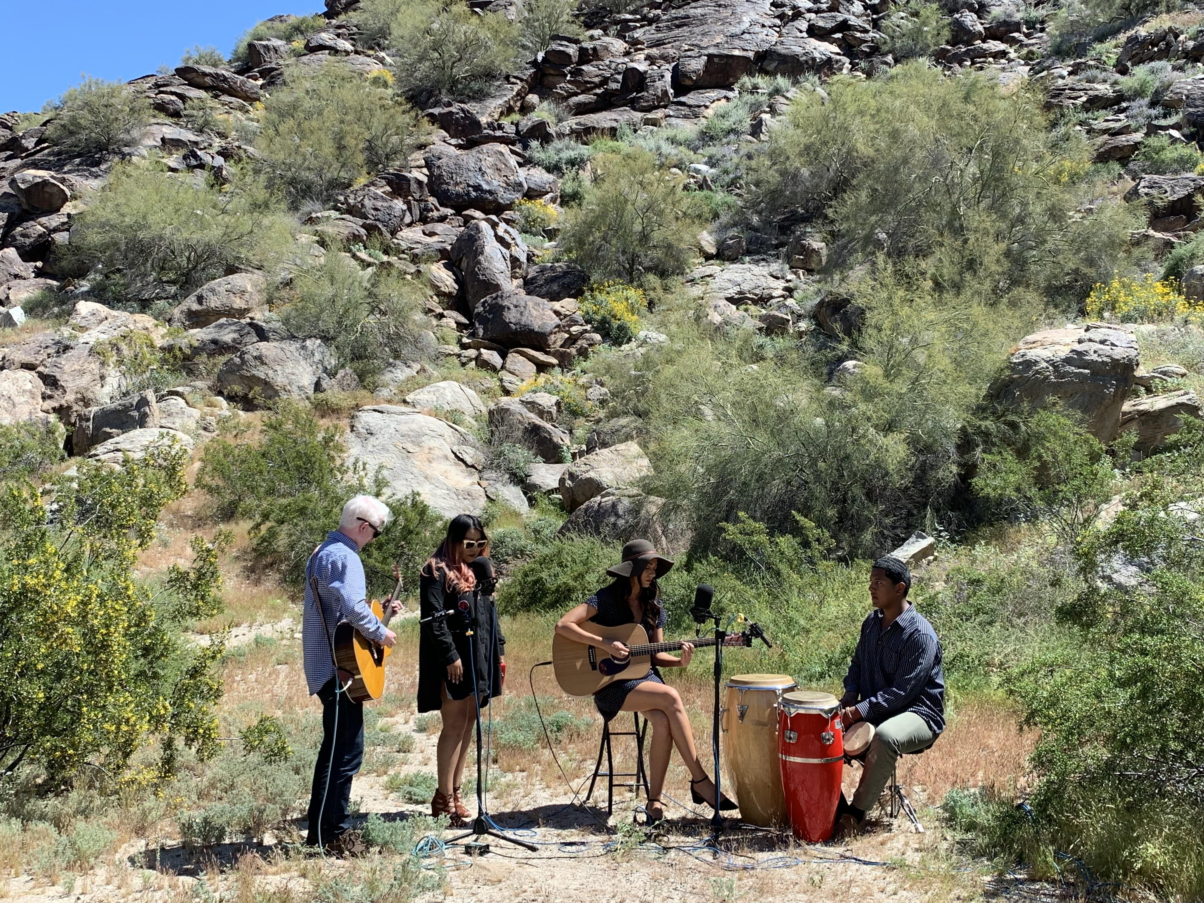 Bella Canzano and band at South Mountain Park on May 1, 2019.