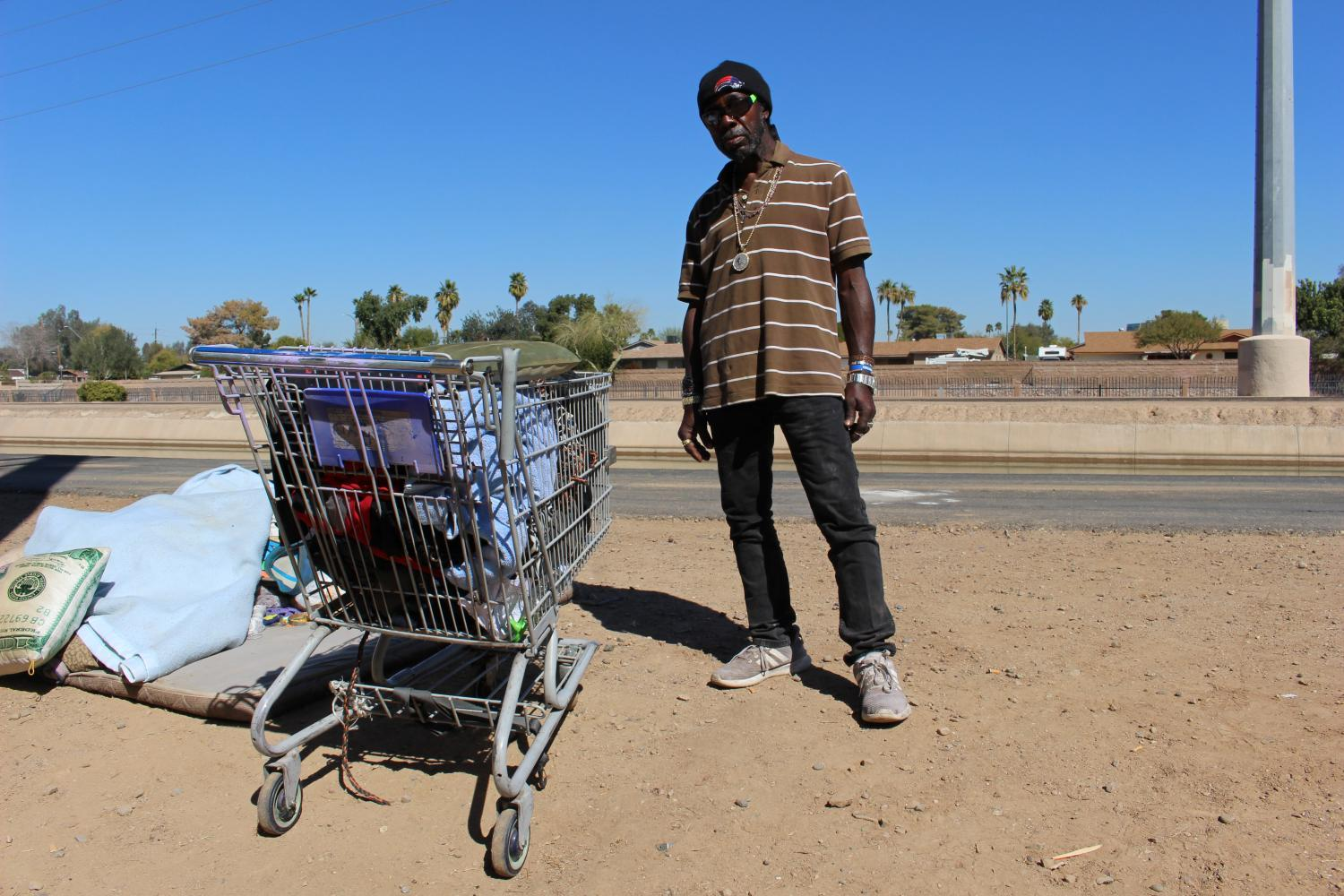 Phoenix resident Boom Boom, who is homeless, says he
