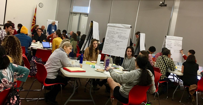 Participants at coop business workshop