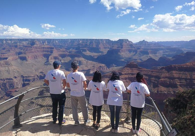 Chinese visitors to the Grand Canyon