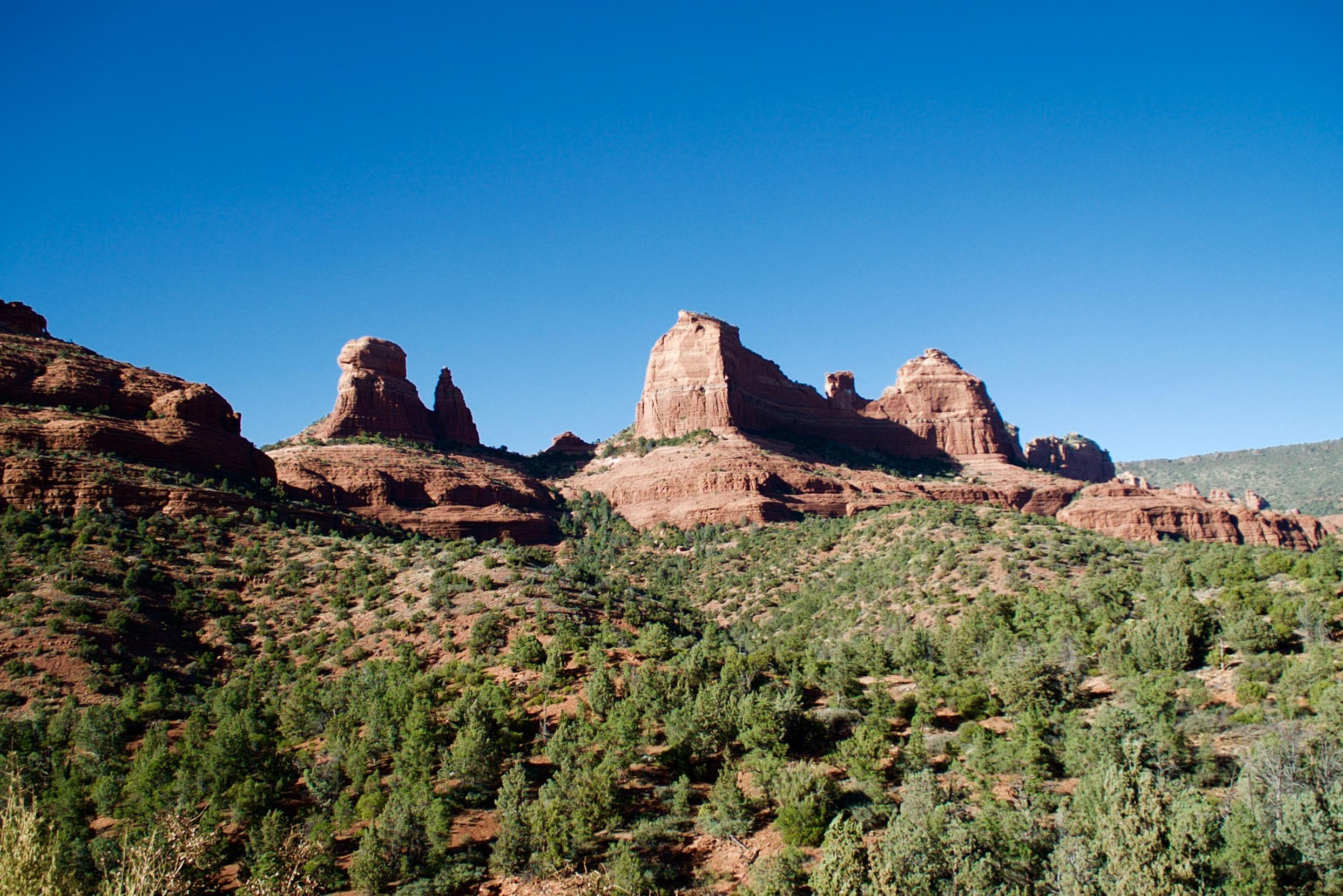 Iconic red rock formations in Sedona, Arizona