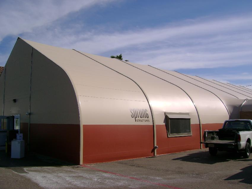 exterior of large tent like structure