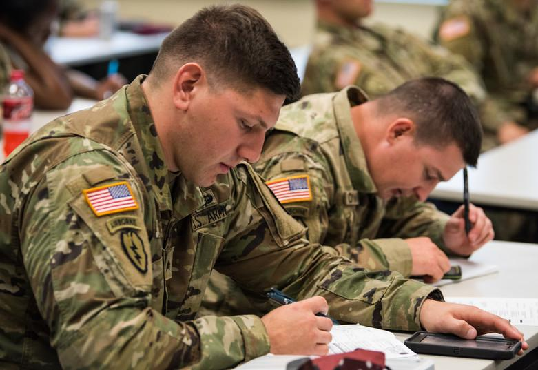 U.S. Army Alaska soldiers attend a class