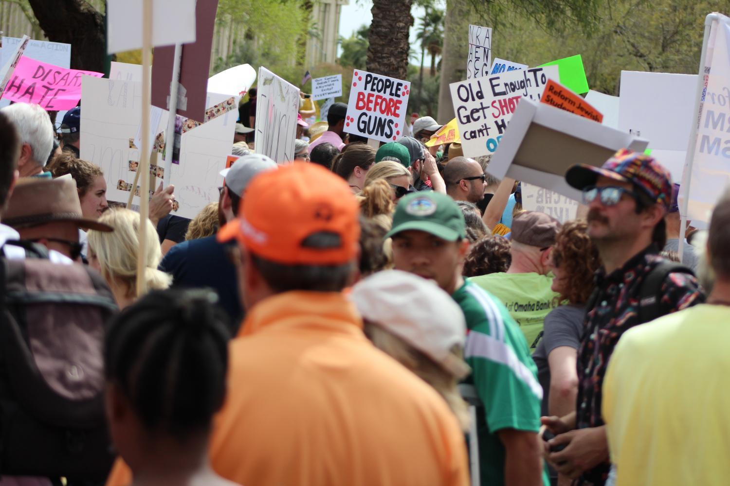 Thousands of Arizona teens showed up to the March For Our Lives demonstration at the Arizona Capitol on Saturday, joining a series of marches nationwide.