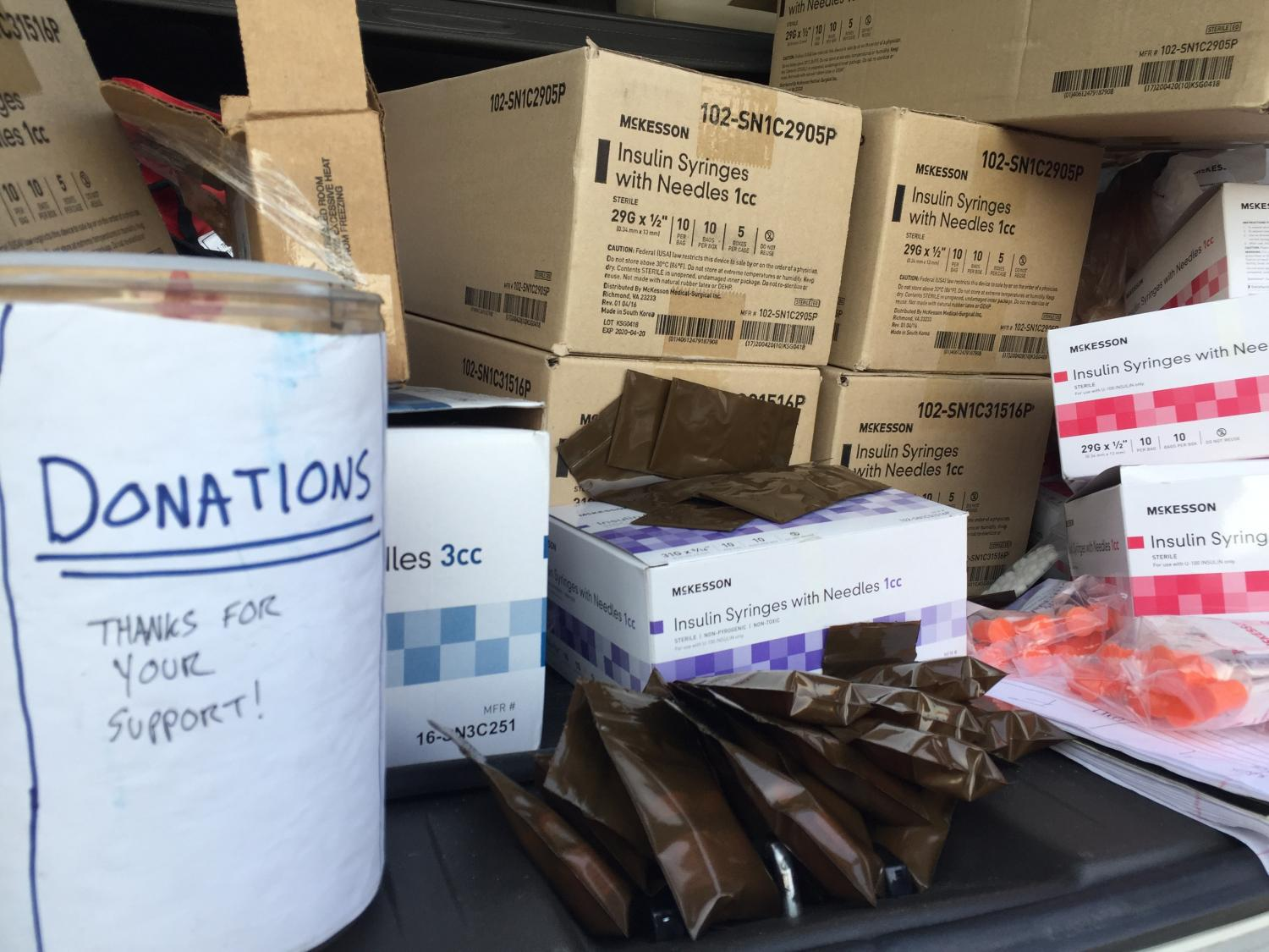 underground needle exchange supplies