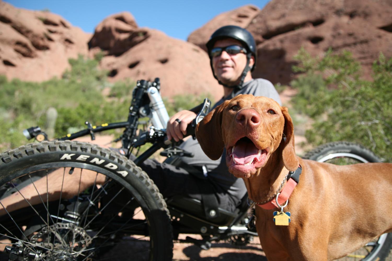 Loren Worthington with his dog