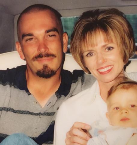 Debbie Mazzetta with late husband Jay Mianecki and son Trevor