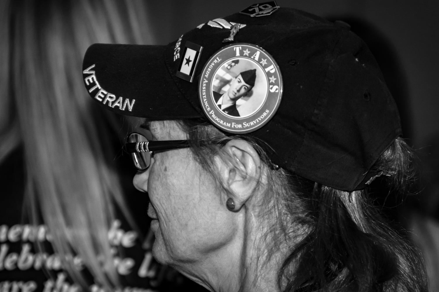 A veteran and relative of a servicemember who died by suicide at the 2019 Tragedy Assistance Program for Survivors (TAPS) conference in Phoenix, Oct. 12, 2019.