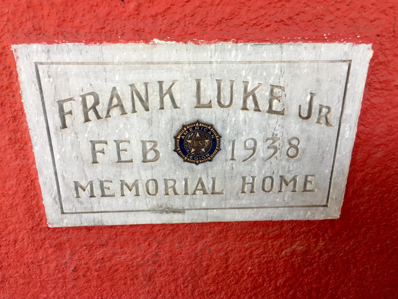 frank luke sign on wall