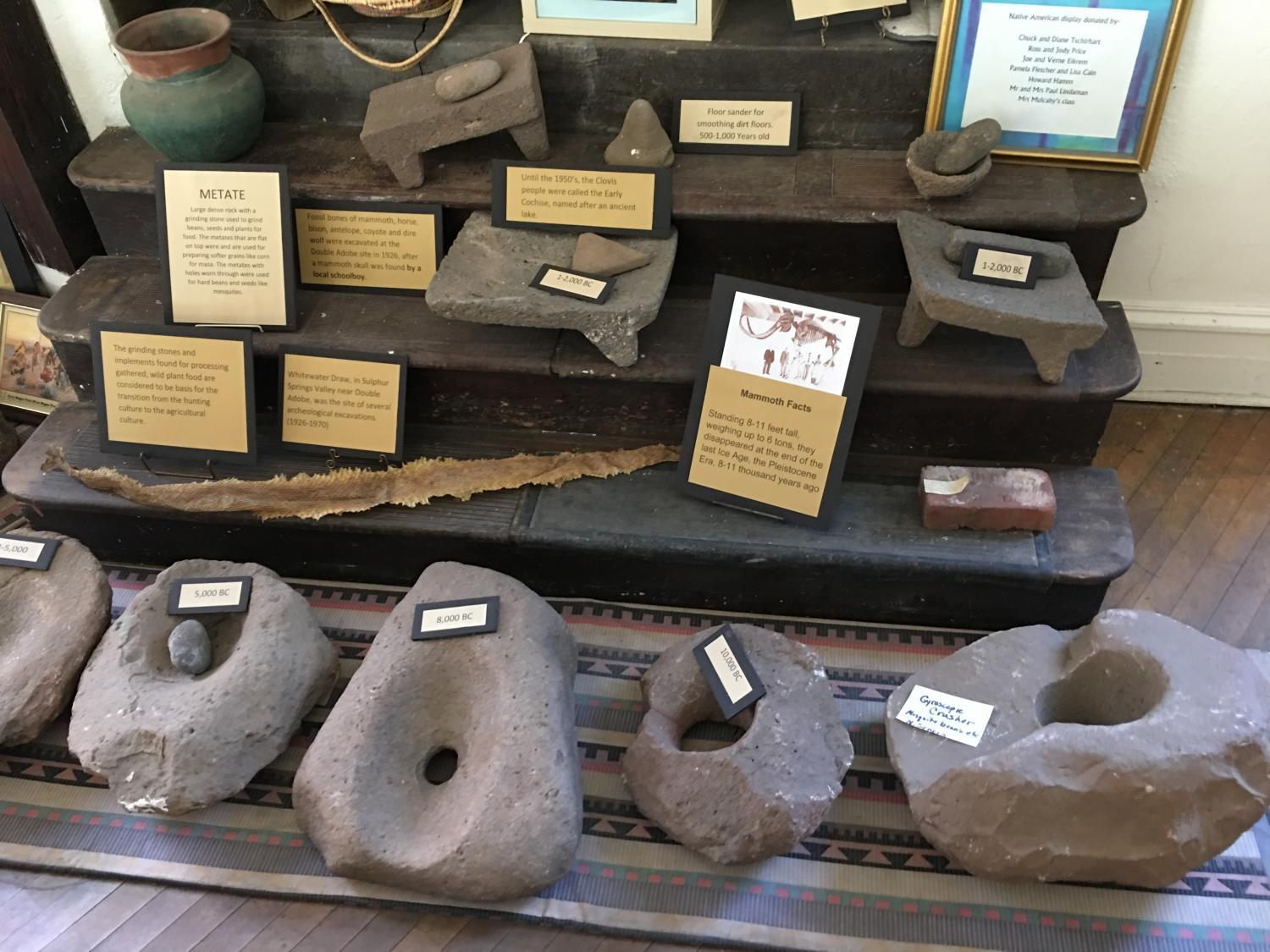 Metates from the Bisbee Restoration Museum