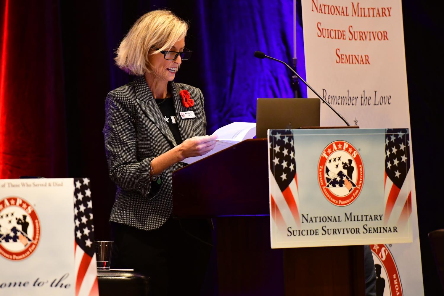 Kim Ruocco, Vice President of suicide prevention and postvention, 2019 Tragedy Assistance Program for Survivors (TAPS).