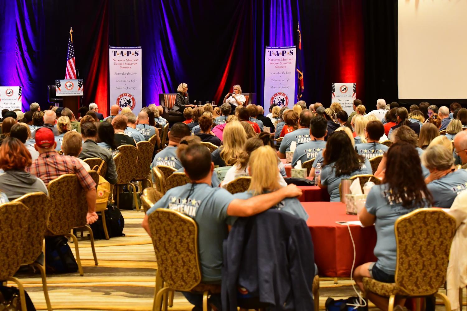 Conference attendees at the 2019 Tragedy Assistance Program for Survivors (TAPS) conference in Phoenix, Oct. 12, 2019.