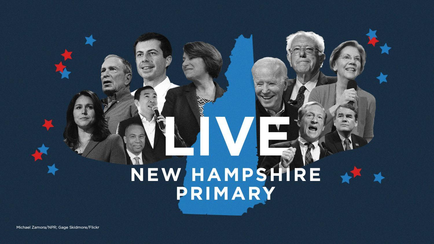 new Hampshire primary collage of candidates